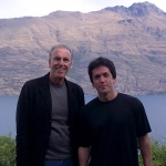 Eric and Mitch Albom, author of Tuesdays with Morrie and The Five People You Meet in Heaven, at the Azur Lodge in Queenstown, New Zealand