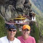 Eric and Christine at the Tigers Nest in Bhutan