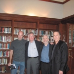University of Toronto Reading Series authors Jon Evans, Phillip Margolin, Stephen Booth, and Eric Rill